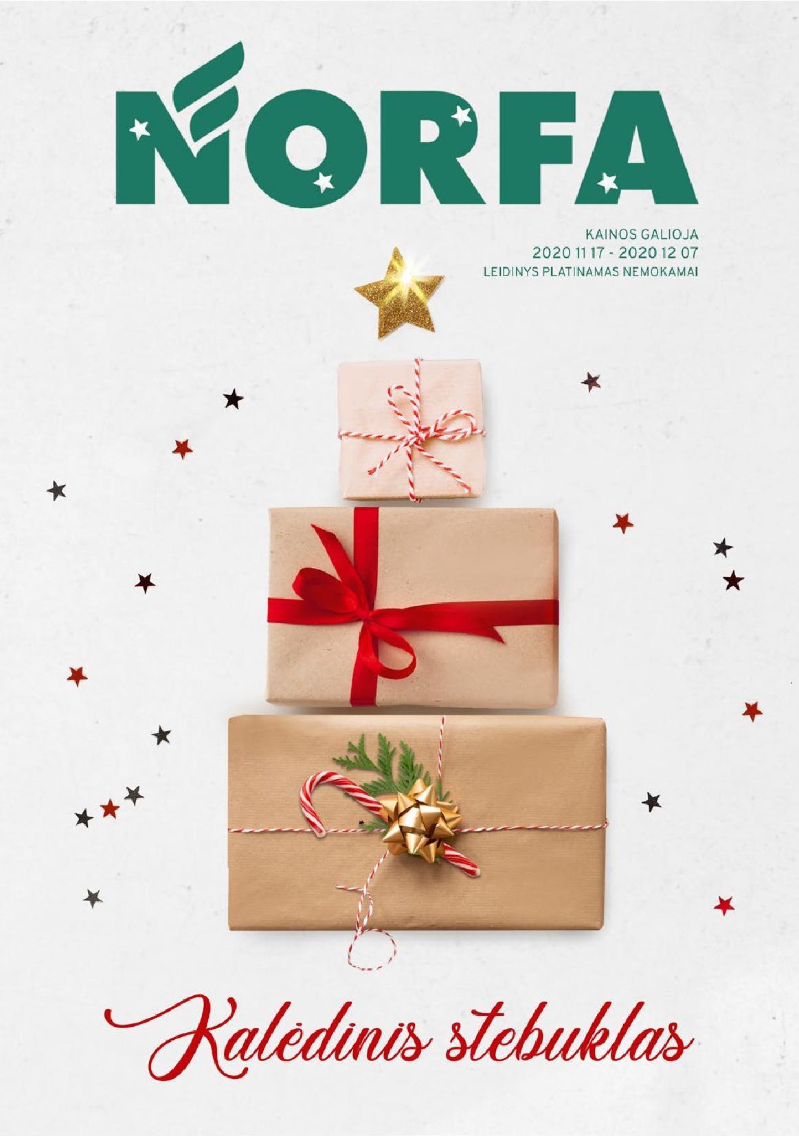 """NORFA šventinis katalogas """"KALĖDINIS STEBUKLAS"""" 2020.11.17 - 2020.12.07"""