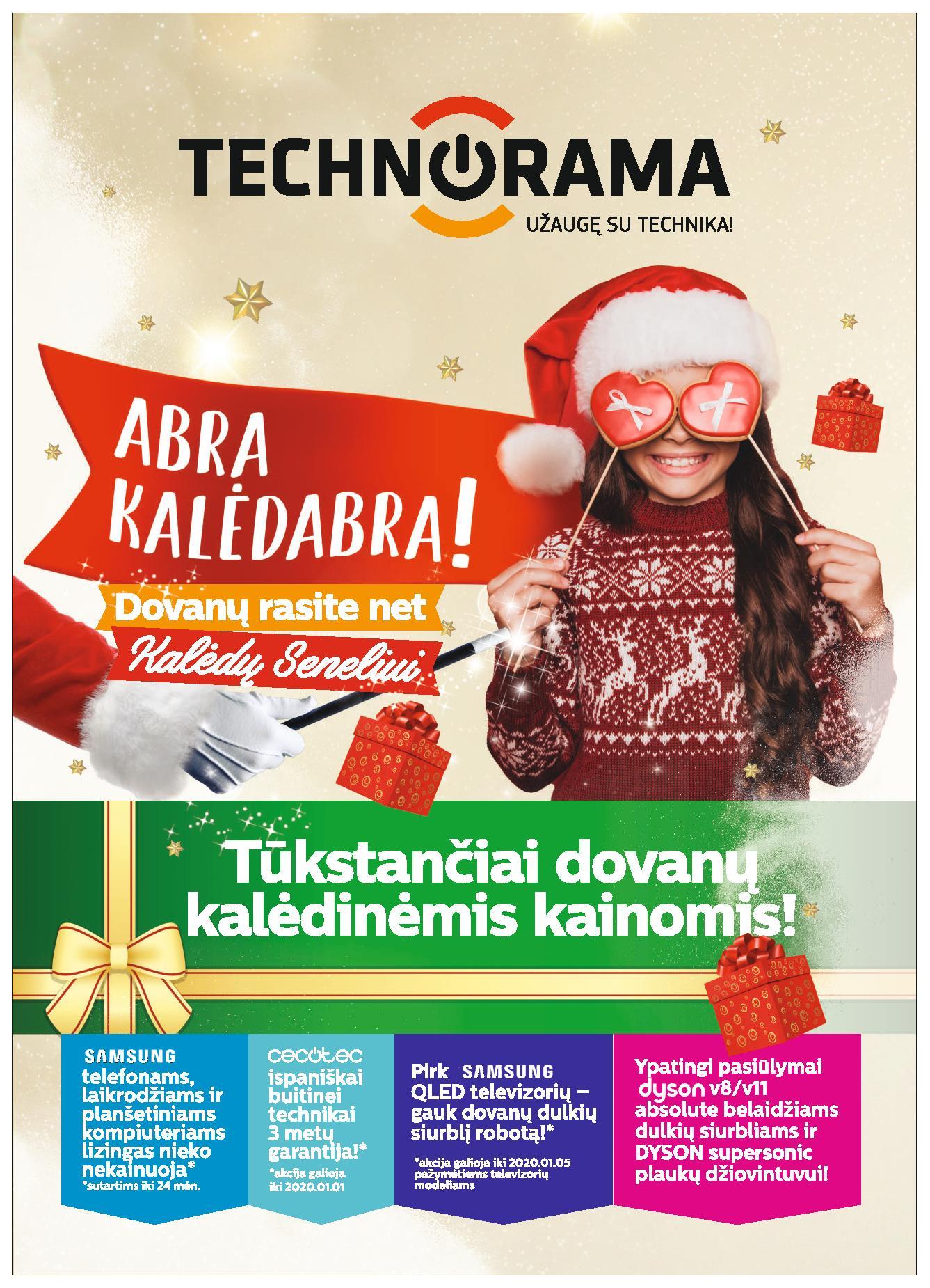 TECHNORAMA akcijų ir nuolaidų leidinys galioja 2019.12.13 - 2020.01.05(leidinio galiojimas yra pasibaigęs)