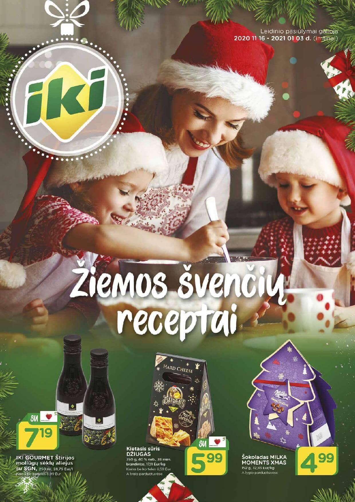 """IKI kainų leidinys """"IKI žiemos švenčių receptai"""" 2020.11.16 - 2021.01.03"""