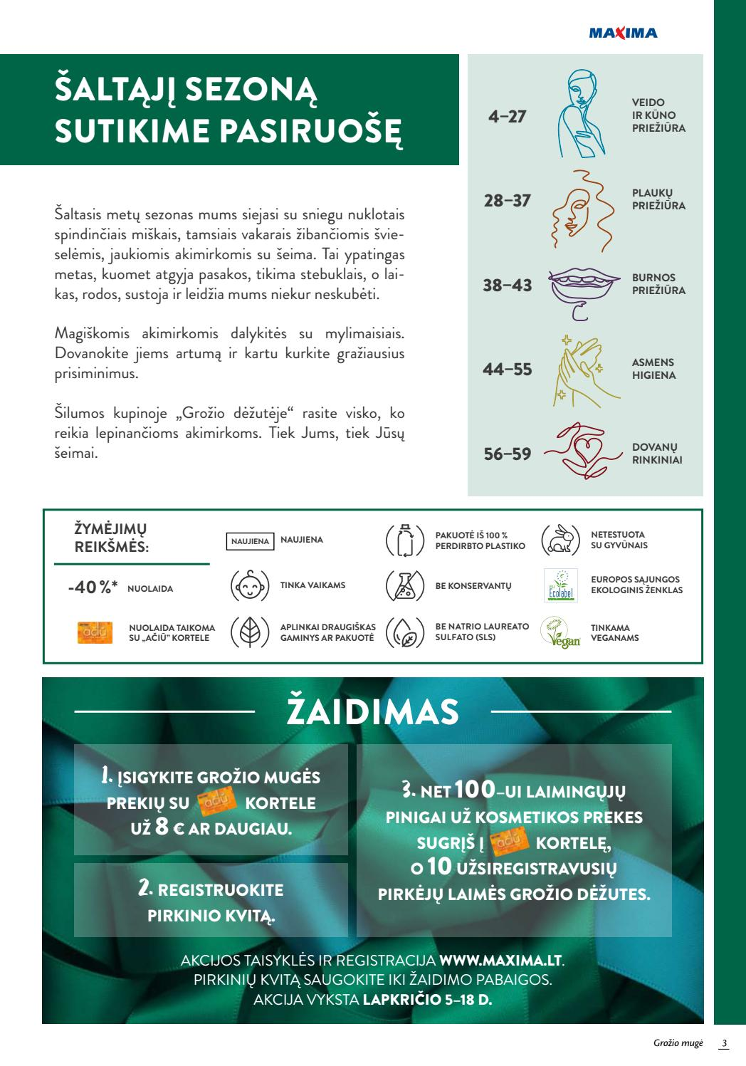 """MAXIMA XX XXX kaininis katalogas """"GROŽIO MUGĖ"""" 2020.11.05 - 2020.11.18(leidinio galiojimas yra pasibaigęs)"""